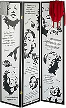 Relaxdays Paravent Marilyn Monroe, HxB: 179 x 132