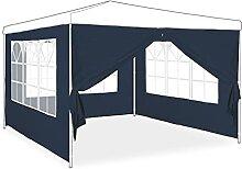 Relaxdays Pavillon Seitenwand 4er Set, 2x3 m,