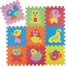 Relaxdays Puzzle Spielmatte 51 tlg, Tier Motiv