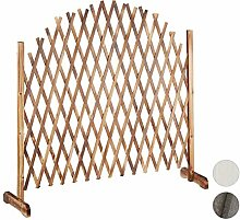 Relaxdays Rankgitter Holz, ausziehbar bis 200cm,