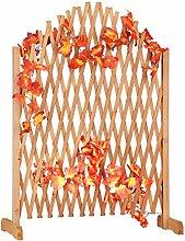 Relaxdays Rankgitter Holz, ausziehbar,