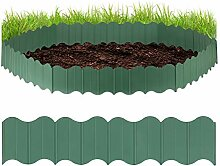 Relaxdays Rasenkante Kunststoff, Gartenpalisade