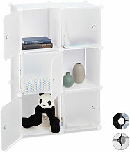 Relaxdays - Regalsystem mit 6 Türen, DIY, Cubes,