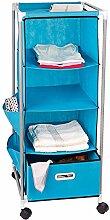 Relaxdays Rollcontainer mit 4 Rollen + Aufbewahrungsbox + 3 Ablageflächen 38,5x99x38,5 cm