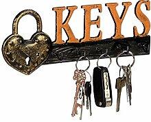 Relaxdays Schlüsselbrett, 5 Haken,