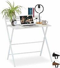 Relaxdays Schreibtisch klappbar, platzsparender