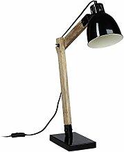 Relaxdays Schreibtischlampe Holz Skandinavisch,