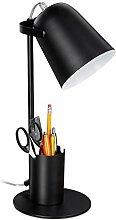 Relaxdays Schreibtischlampe mit Stifthalter,