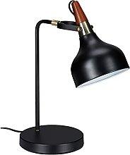 Relaxdays Schreibtischlampe Retro, verstellbar,