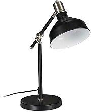 Relaxdays Schreibtischlampe, verstellbar, E27