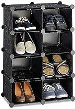 Relaxdays Schuhregal mit 8 Fächern, Schuhschrank