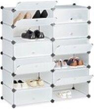 relaxdays Schuhschrank Schuhschrank mit 12 Fächern