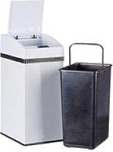 relaxdays Sensor Mülleimer 7,0 l weiß