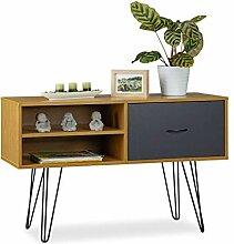 Relaxdays Sideboard Retro Design, Schublade,