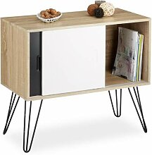 Relaxdays Sideboard Retro, Kommode mit