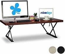 Relaxdays Sitz-Steh-Schreibtisch XXL, elektrisch