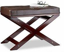 Relaxdays Sitzbank mit Polster ohne Lehne, aus