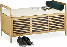 Relaxdays Sitzbank mit Stauraum, Aufbewahrungsbox