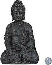Relaxdays sitzende Figur, 40 cm hoch, Feng Shui,