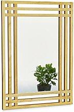 Relaxdays Spiegel aus Kiefernholz H x B x T: ca.