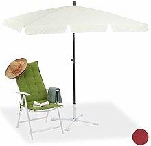 Relaxdays Strandschirm, höhenverstellbarer