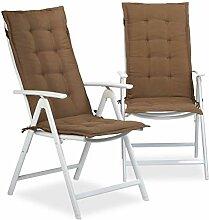 Relaxdays Stuhlauflage Hochlehner,