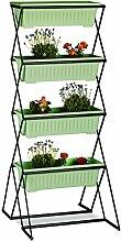 Relaxdays Vertikalbeet mit 4 Blumenkästen, Stahl,