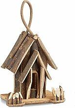 Relaxdays Vogelhaus Deko, Holz Vogelhäuschen mit