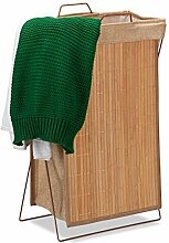 Relaxdays Wäschekorb Bambus, faltbar, 40 l,
