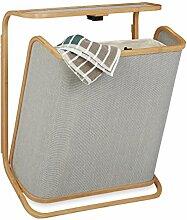 Relaxdays Wäschekorb für die Wand, aufklappbarer