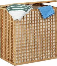 Relaxdays - Wäschesammler 2 Fächer, eckige