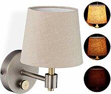 Relaxdays Wandlampe Vintage, dimmbar, Wandstrahler