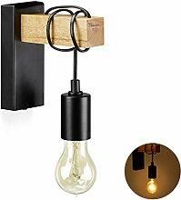 Relaxdays Wandlampe Vintage, rustikale