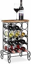 Relaxdays Weinregal, 12 Flaschen Wein, Design,
