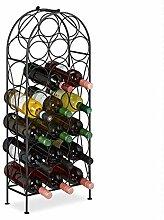 Relaxdays Weinregal, 20 Flaschen, dekoratives