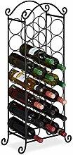 Relaxdays Weinregal, 21 Flaschen, dekoratives