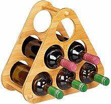 Relaxdays Weinregal 6 Flaschen, dekorative
