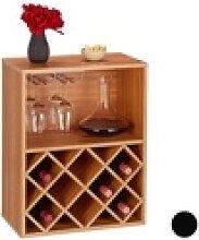 relaxdays Weinregal Weinregal für 8 Flaschen braun