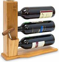 Relaxdays Weinständer für 3 Flaschen H x B x T: