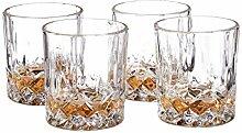Relaxdays Whisky Gläser 4er Set, 250 ml, Gastro,