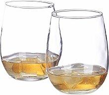 Relaxdays Whisky Gläser Set, 2X Whiskyglas rund,