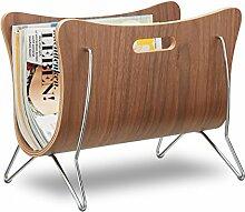 Relaxdays Zeitungsständer Holz, Bugholz,