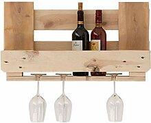 relaxedLiving Weinregal aus Paletten | Platz für