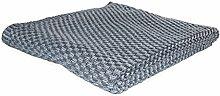 RELAXFAIR Kuschel-Decke grau XXL 200 x 150 cm Bio-Baumwolle / Wolldecke Wohndecke Strickdecke Tagesdecke Plaid / Sofa Überwurf TV / flauschig warm weich (anthrazit)