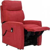 Relaxfernsehsessel in Rot Webstoff Aufstehhilfe