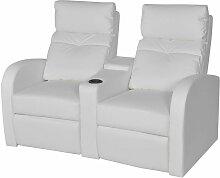 Relaxsessel 2-Sitzer Kunstleder Weiß VD09003 -