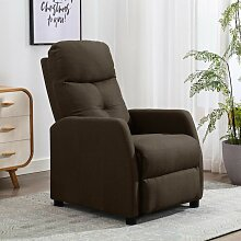 Relaxsessel Braun Stoff - Youthup