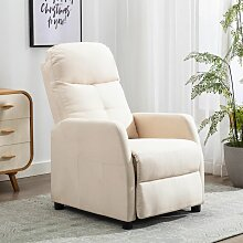 Relaxsessel Creme Stoff2151-A