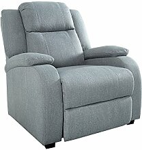 Relaxsessel HOLLYWOOD hellgrau Stoff verstellbar Liegesessel Sessel Fernsehsessel Wohnzimmer mit Liegefunktion Strukturstoff