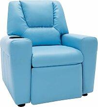 Relaxsessel Kunstleder Blau